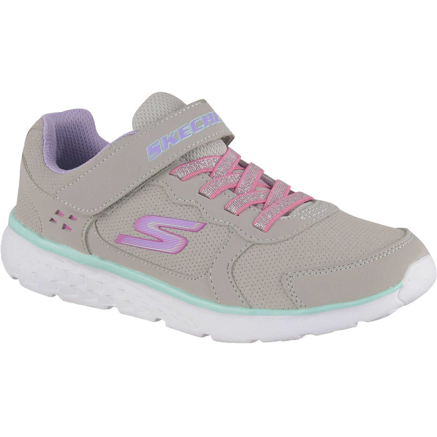 Zapatilla de Niña Skechers Gris / rosado go run 400 power on