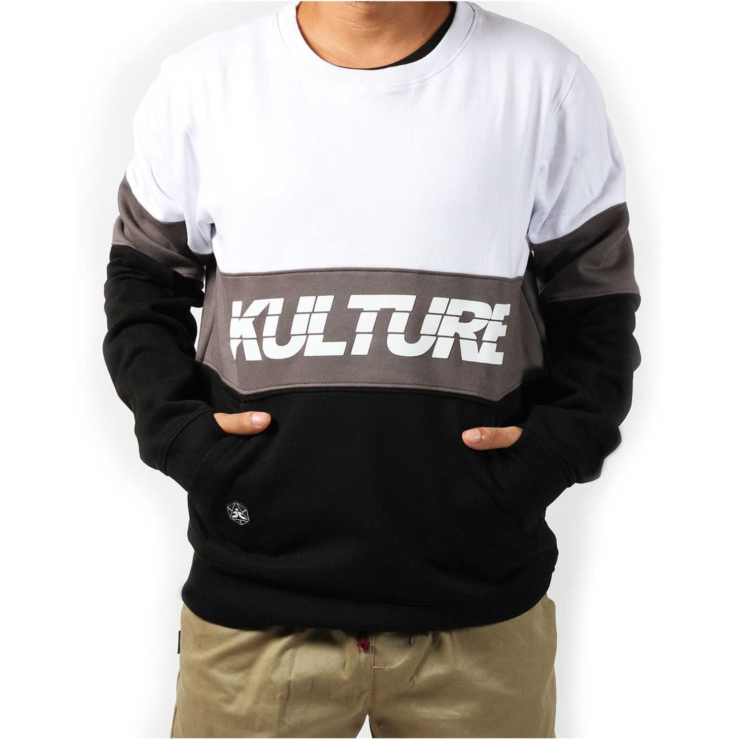 Kulture city striped pullover Negro / plomo Pullovers
