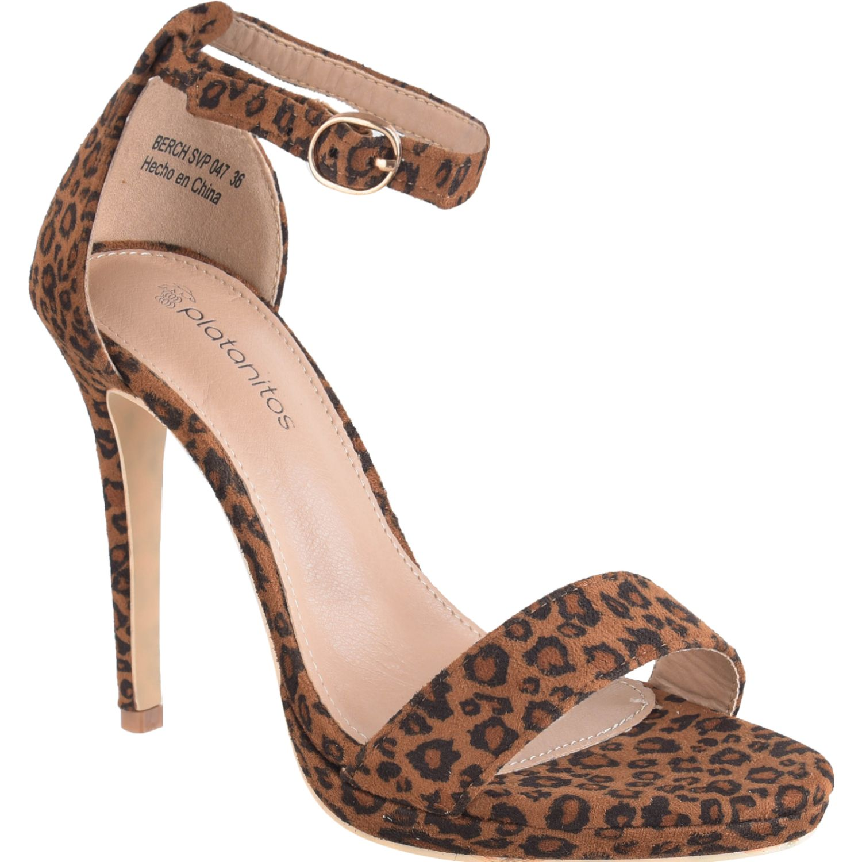 Platanitos svp 047 Leopardo Sandalias con Taco