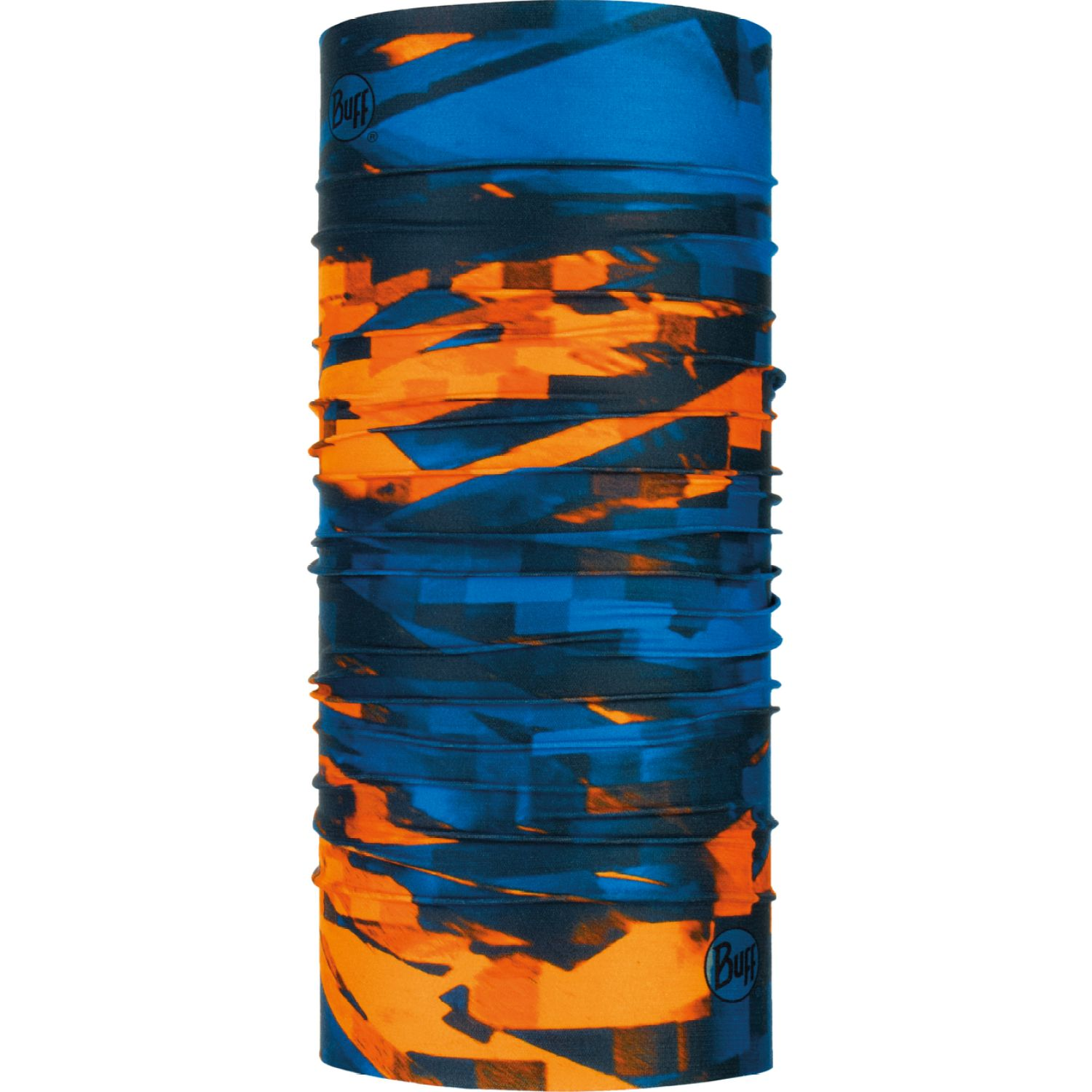 BUFF coolnet uv+ loom multi Azul / naranja Gaiters de Cuello o Calienta Cuellos