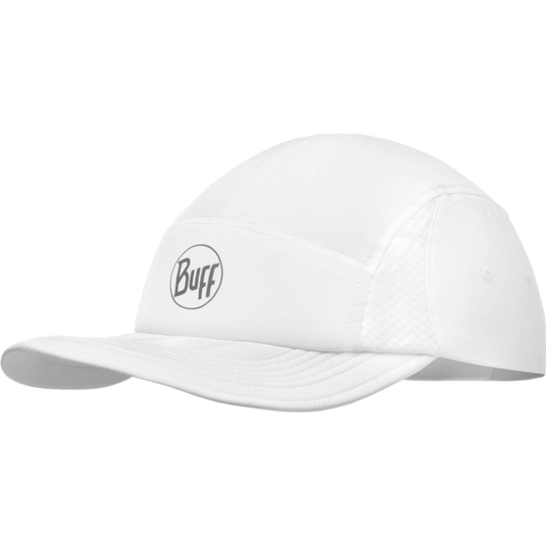 BUFF Run Cap R-Solid White Blanco Gorras de béisbol