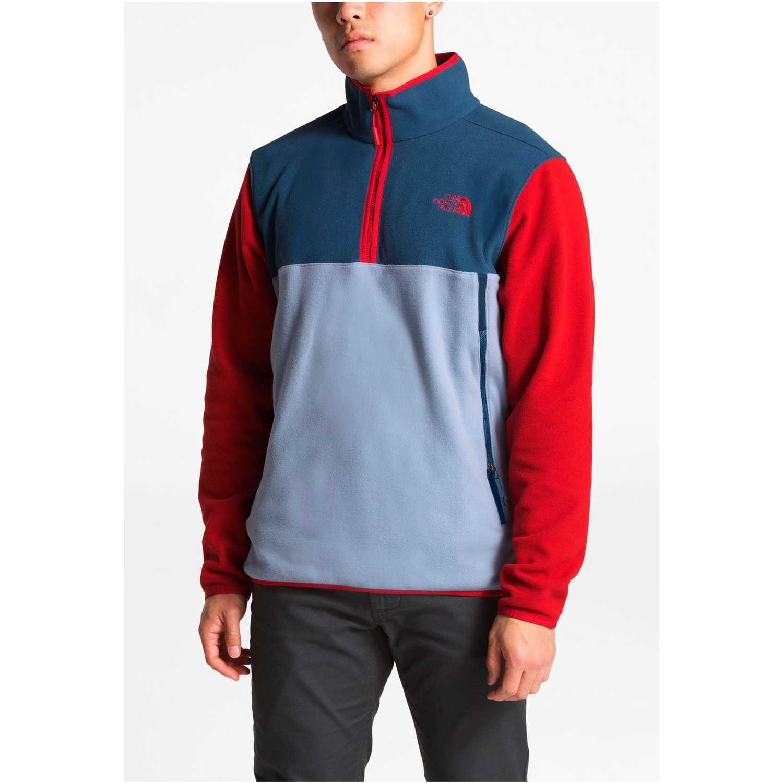 The North Face m glacier alpine 1/4 zip Rojo / azul Sweatshirts Deportivos