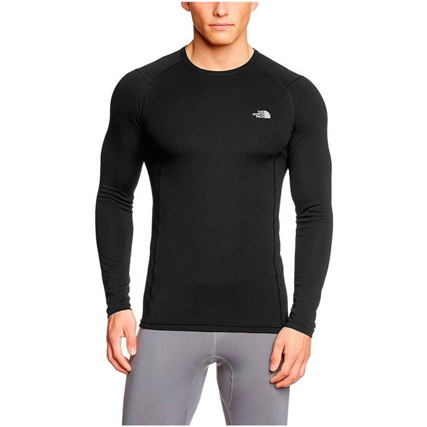 The North Face M WARM L/S CREW NECK Negro Camisetas y Polos Deportivos