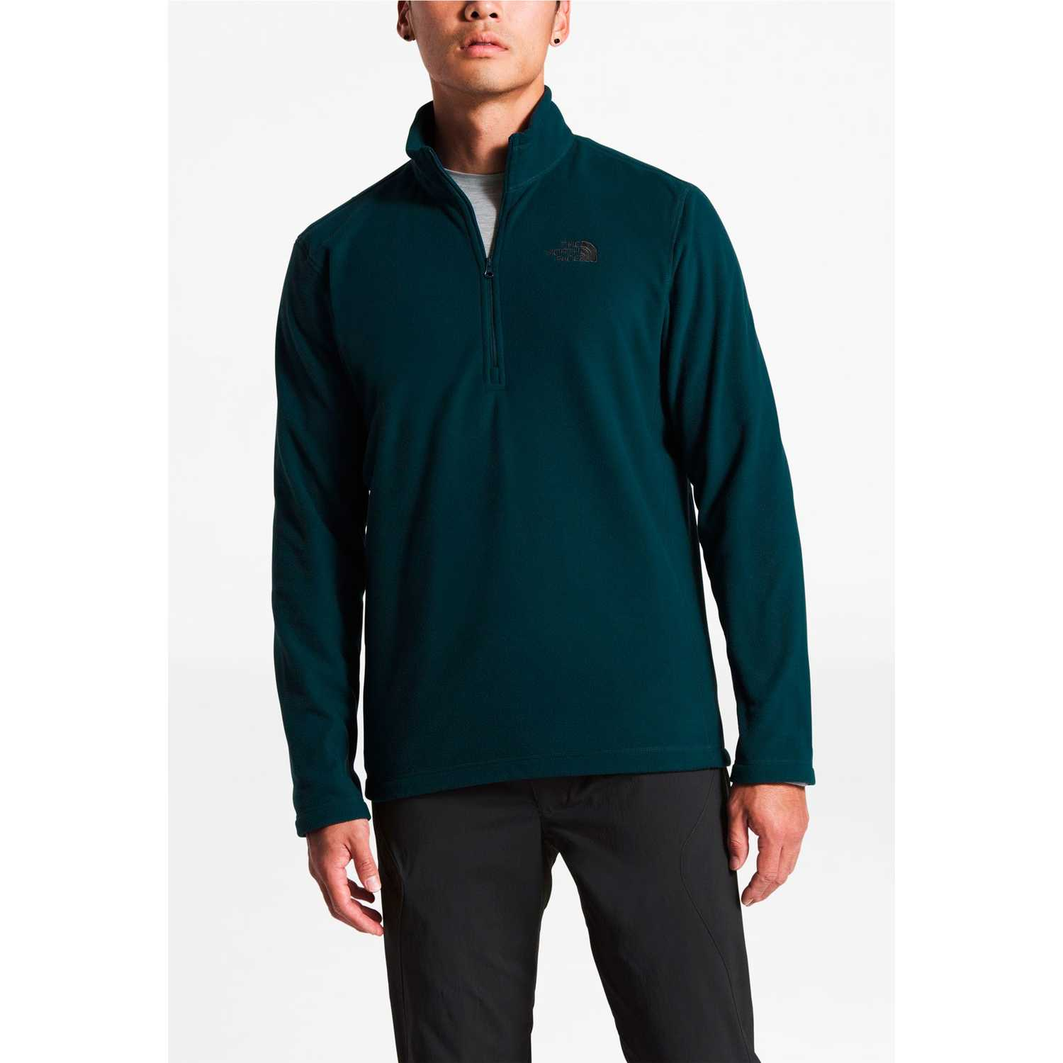 Casaca de Hombre The North Face Turquesa m tka 100 glacier 1/4 zip