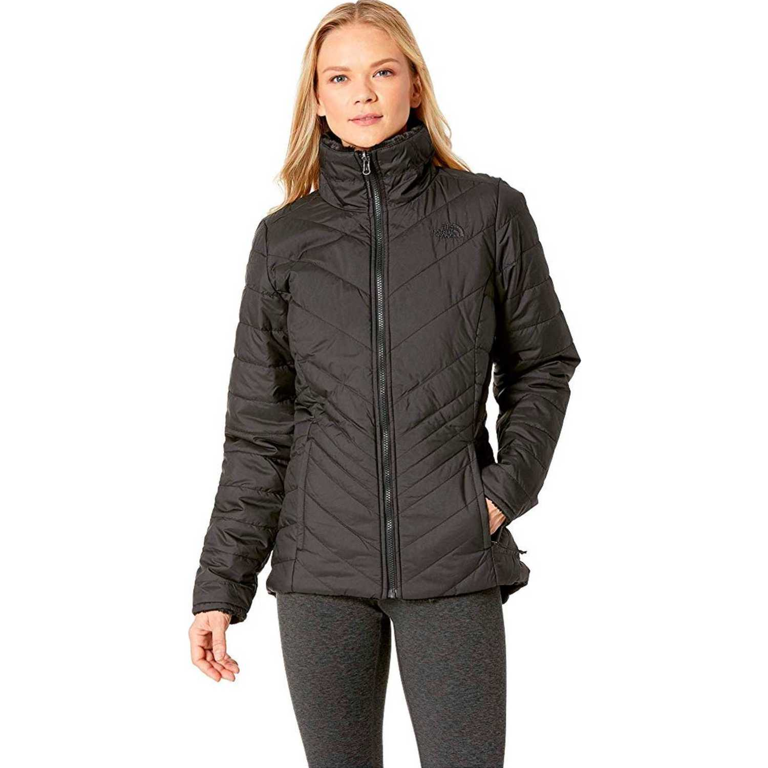The North Face w mossbud insulated reversible jacket Negro