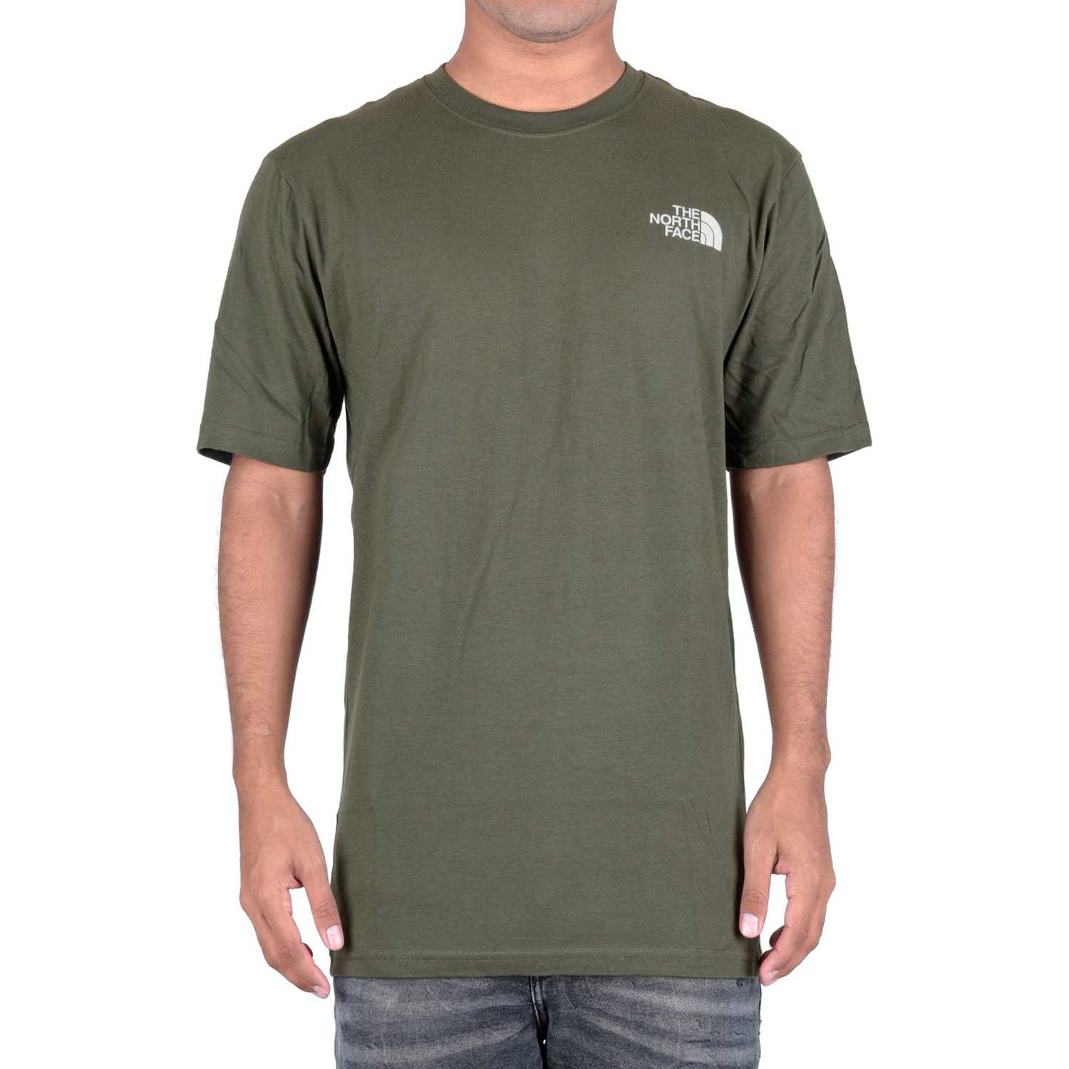 Deportivo de Hombre The North Face Verde m s/s red box tee