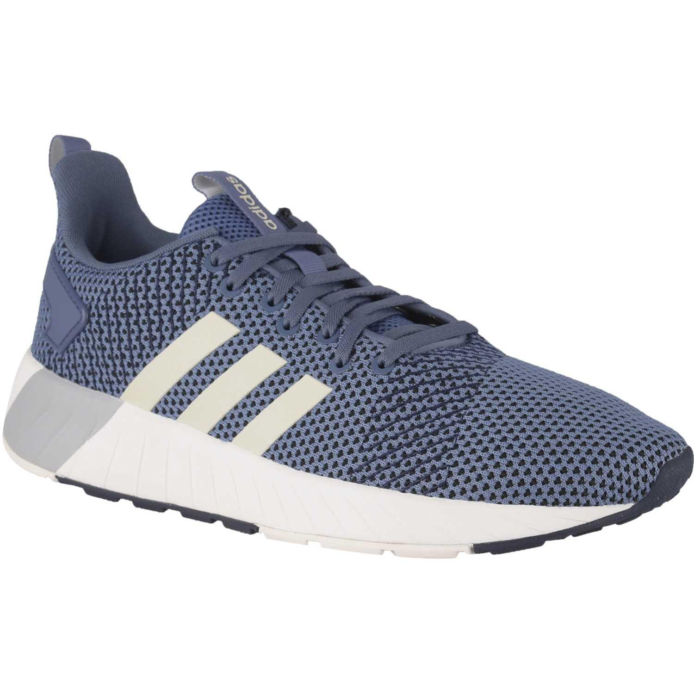 Adidas questar byd Navy Running en pista
