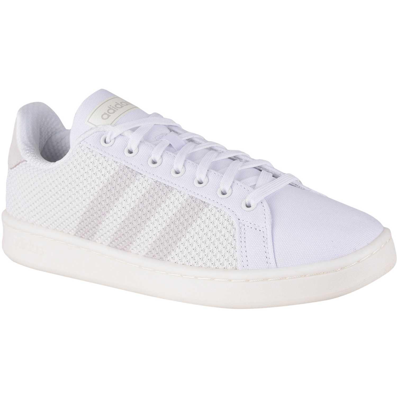 Adidas Grand Court Blanco Tennisy deportes con raqueta