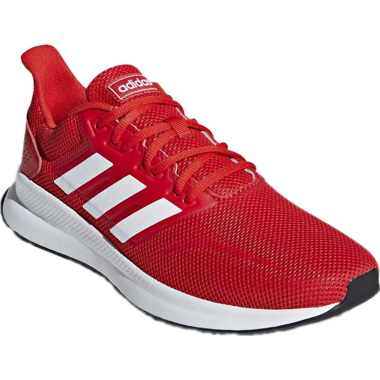 Adidas runfalcon Rojo Running en pista