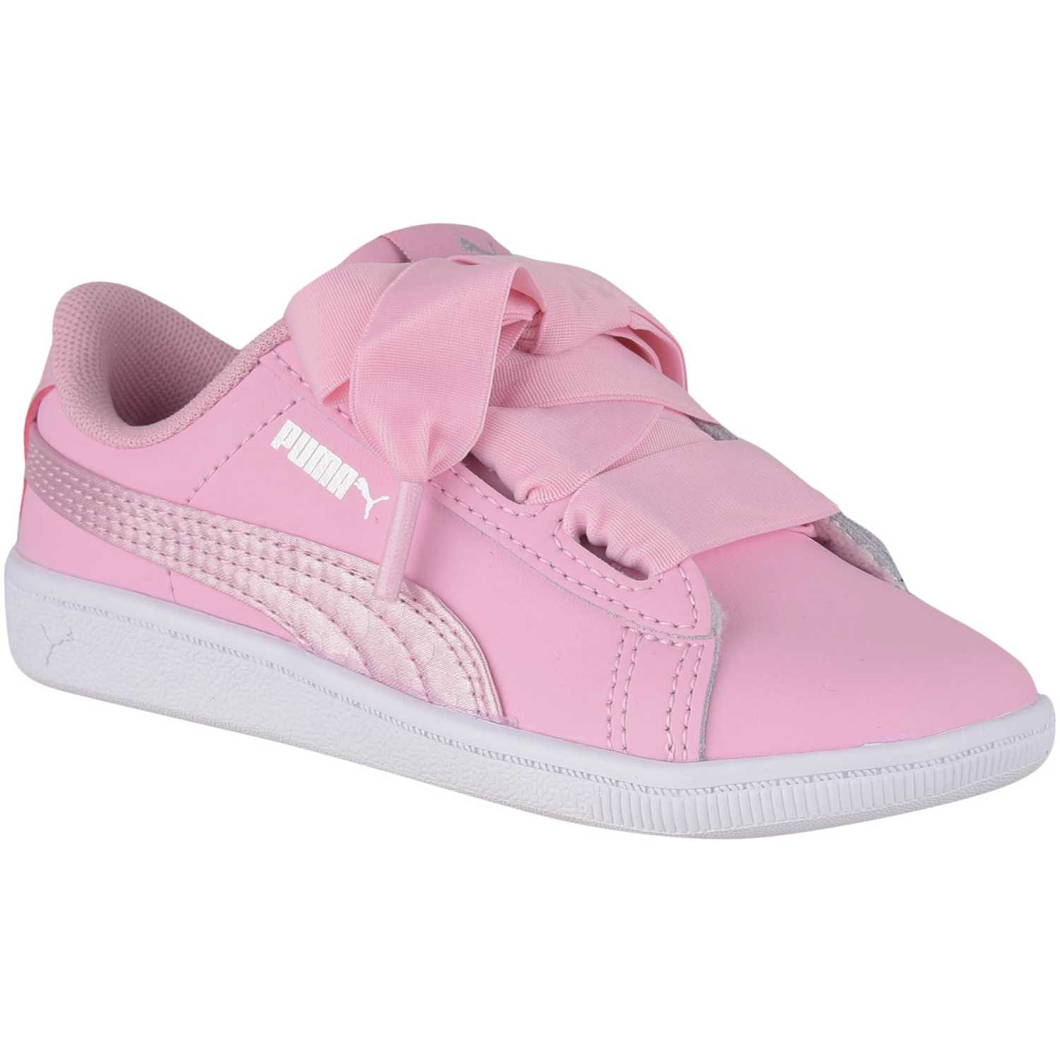 Puma puma vikky ribbon l satin ac inf Rosado / blanco Walking