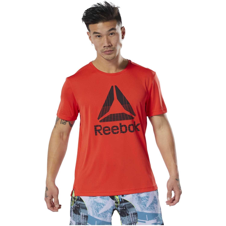 Reebok wor graphic tech tee Rojo Camisetas y Polos Deportivos