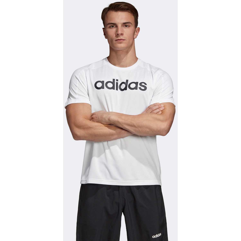 Adidas d2m cool logo t Blanco Camisetas y Polos Deportivos
