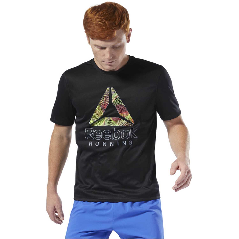 Reebok re graphic tee Negro Camisetas y Polos Deportivos