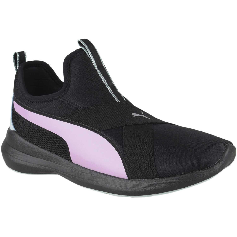 Zapatilla de Mujer Puma Negro / rosado puma rebel x trailblazer