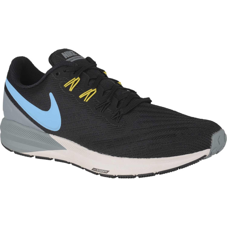 Nike nike air zoom structure 22 Negro / celeste Running en pista