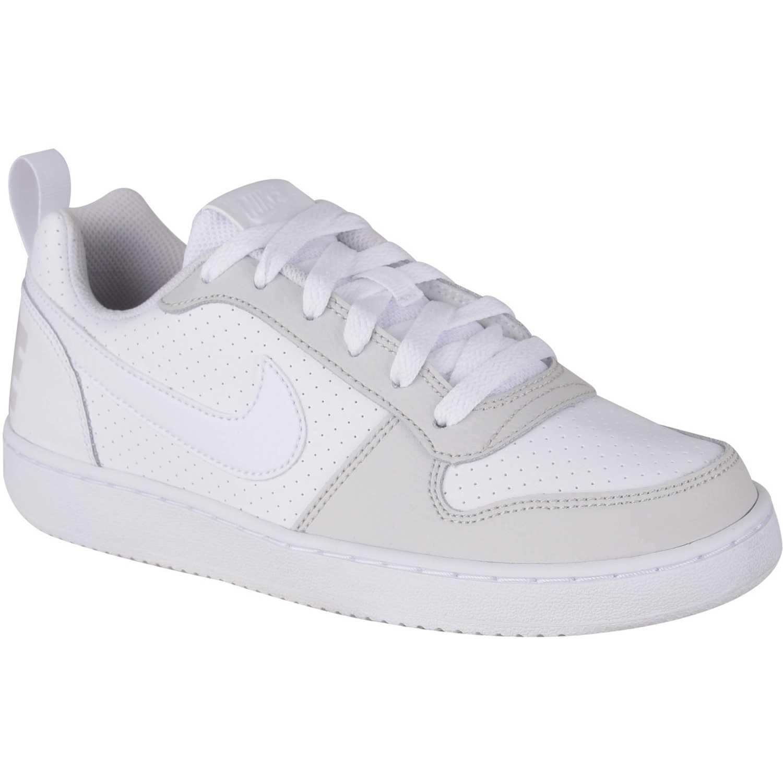 Zapatilla de Jovencita Nike Blanco nike court borough low gg