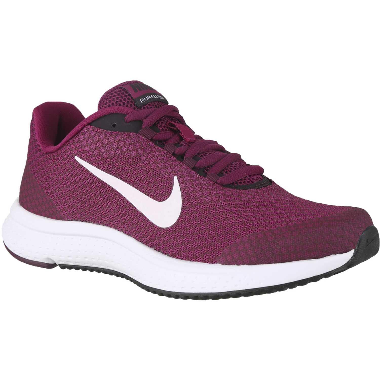 Nike wmns nike runallday Vino / blanco Trail Running