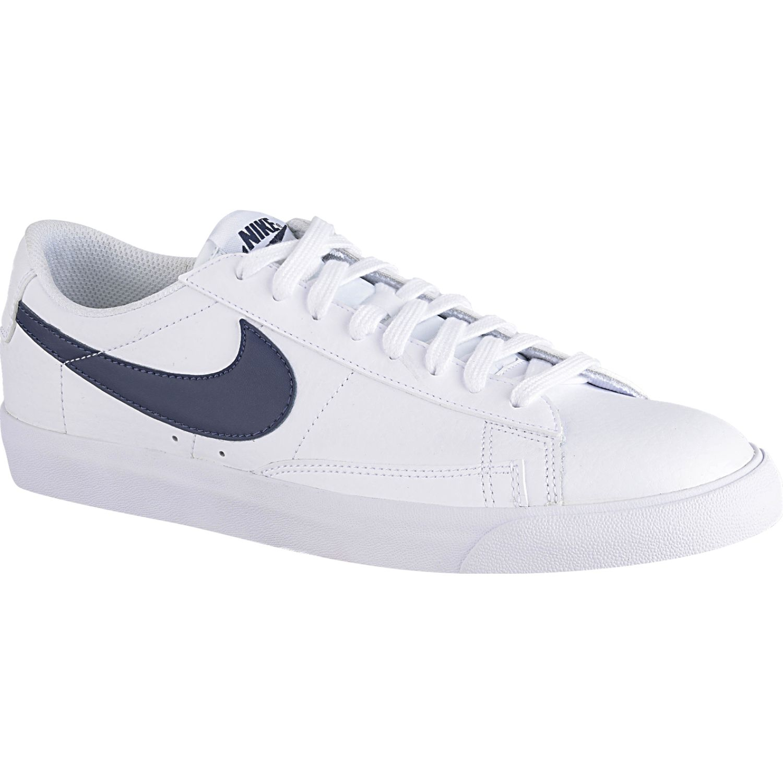 Nike blazer low leather Blanco / azul Walking | platanitos.com