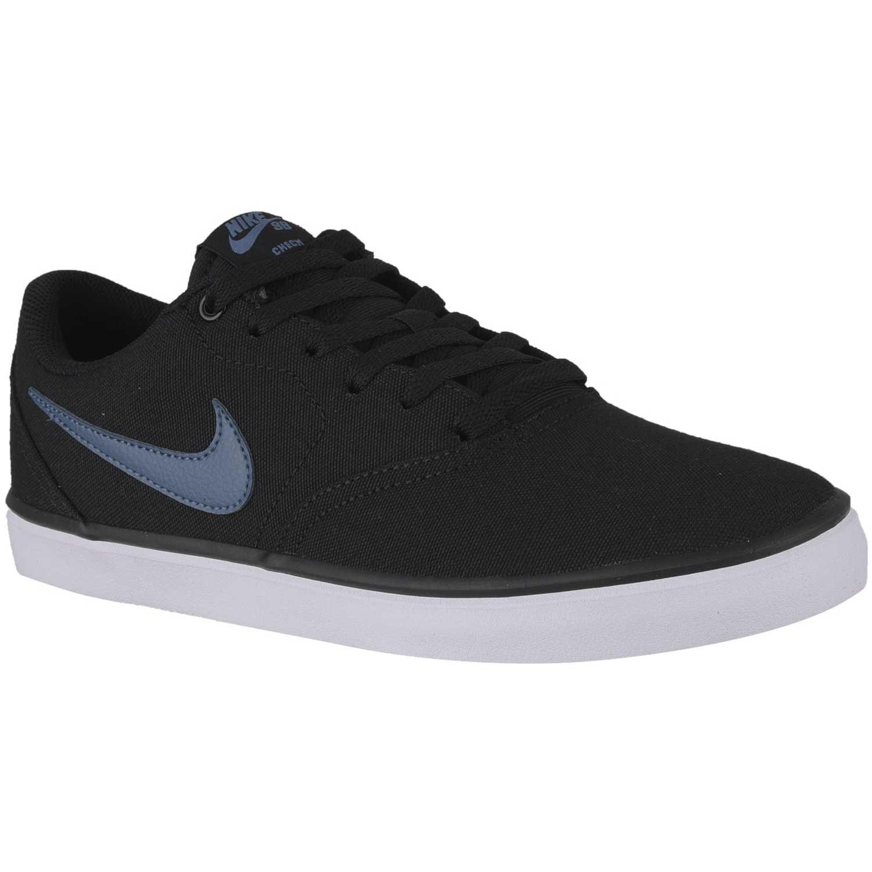 Zapatilla de Hombre Nike Negro / azul nike sb check solar cnvs