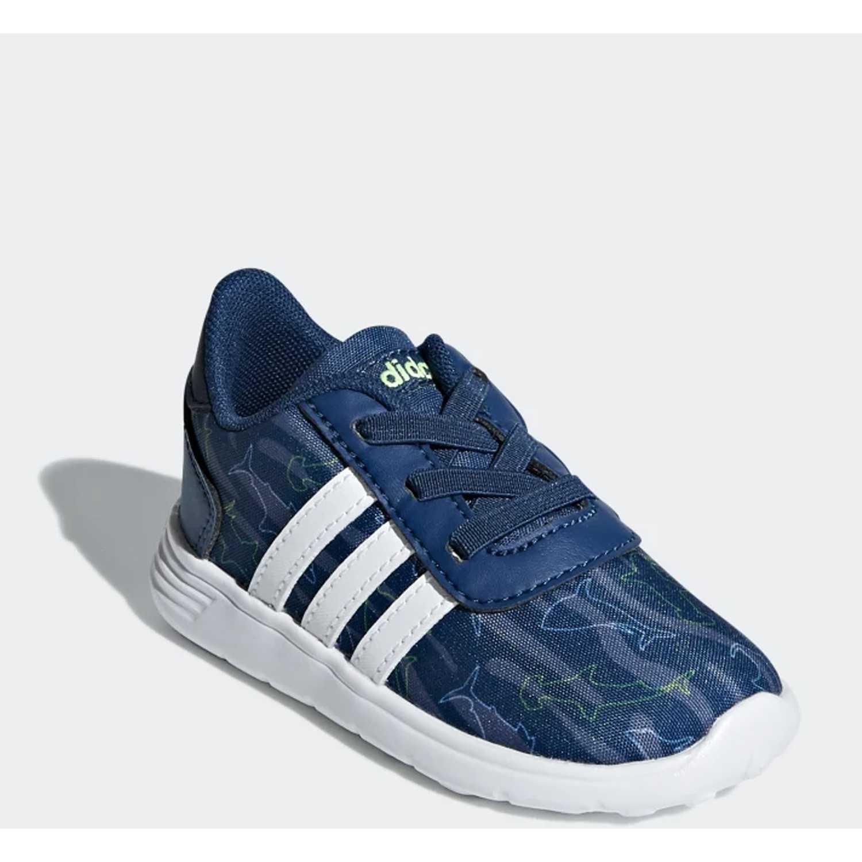 Flat de Mujer Adidas Azul lite racer inf