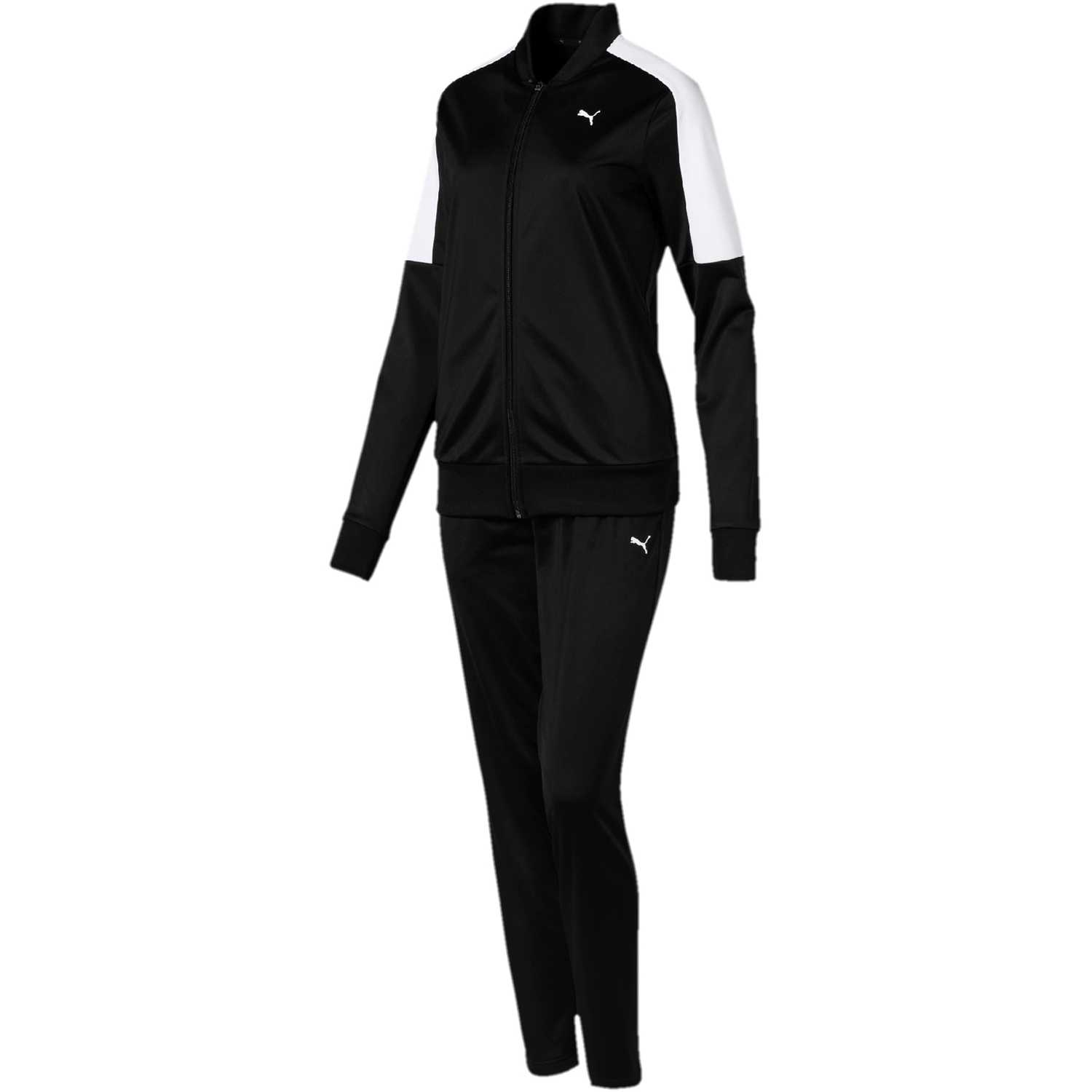 Puma clean tricot suit op Negro / blanco Sets Deportivos Tops y Bottoms