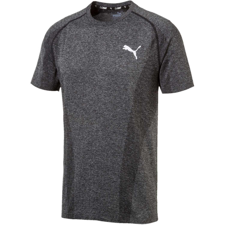 Puma evoknit basic tee Plomo Camisetas y Polos Deportivos