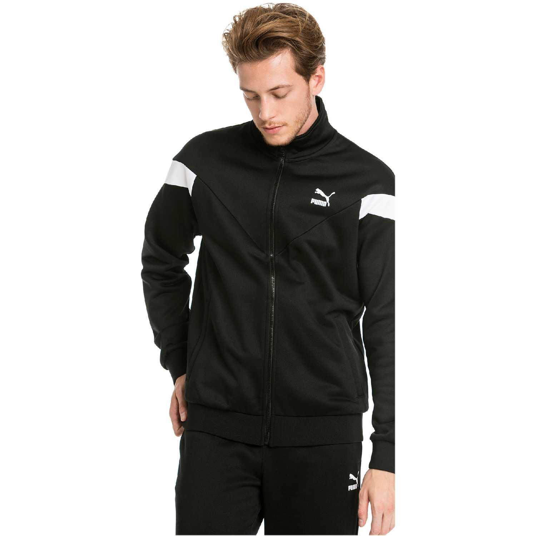 Casacas de Hombre Puma Negro / blanco iconic mcs track jacket