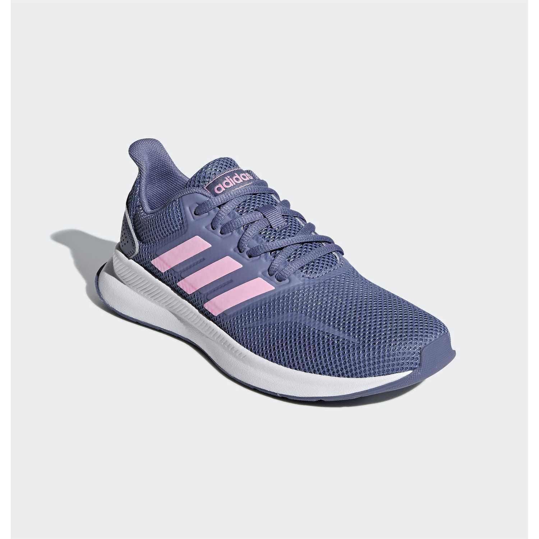 Zapatilla de Jovencito Adidas Plomo / rosado runfalcon k