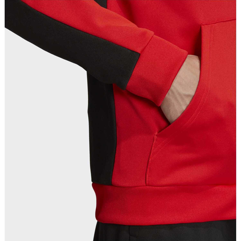 Buzos de Hombre Adidas Rojo / negro mts lin ft hood
