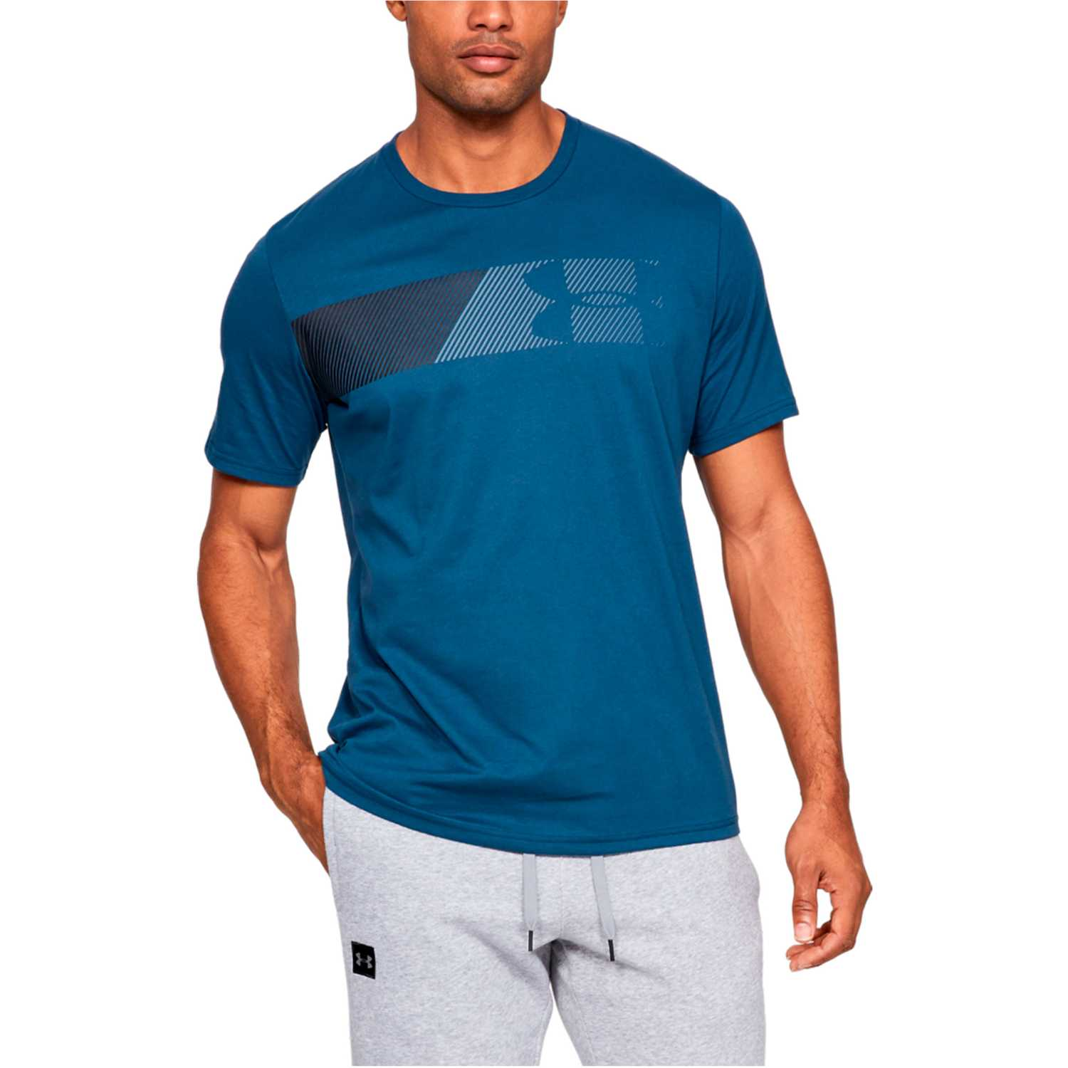 Under Armour ua fast left chest 2.0 ss Turquesa