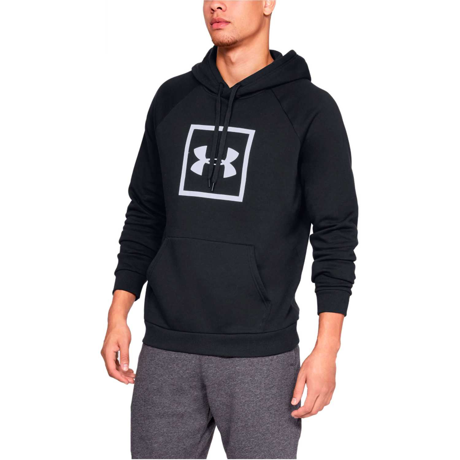 Under Armour rival fleece logo hoodie Negro / blanco Hoodies Deportivos