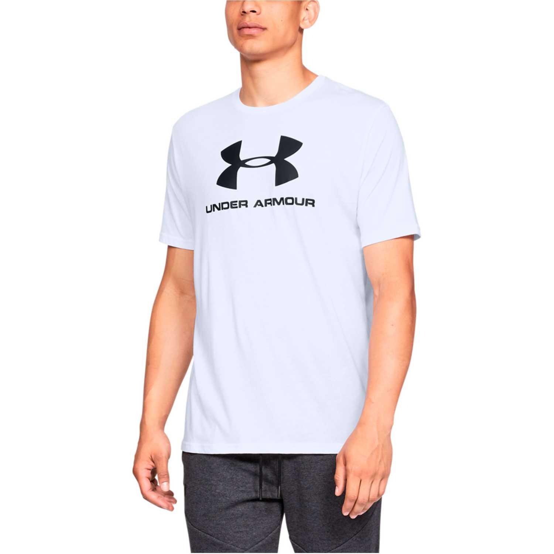 Polo de Hombre Under Armour Blanco / negro sportstyle logo ss