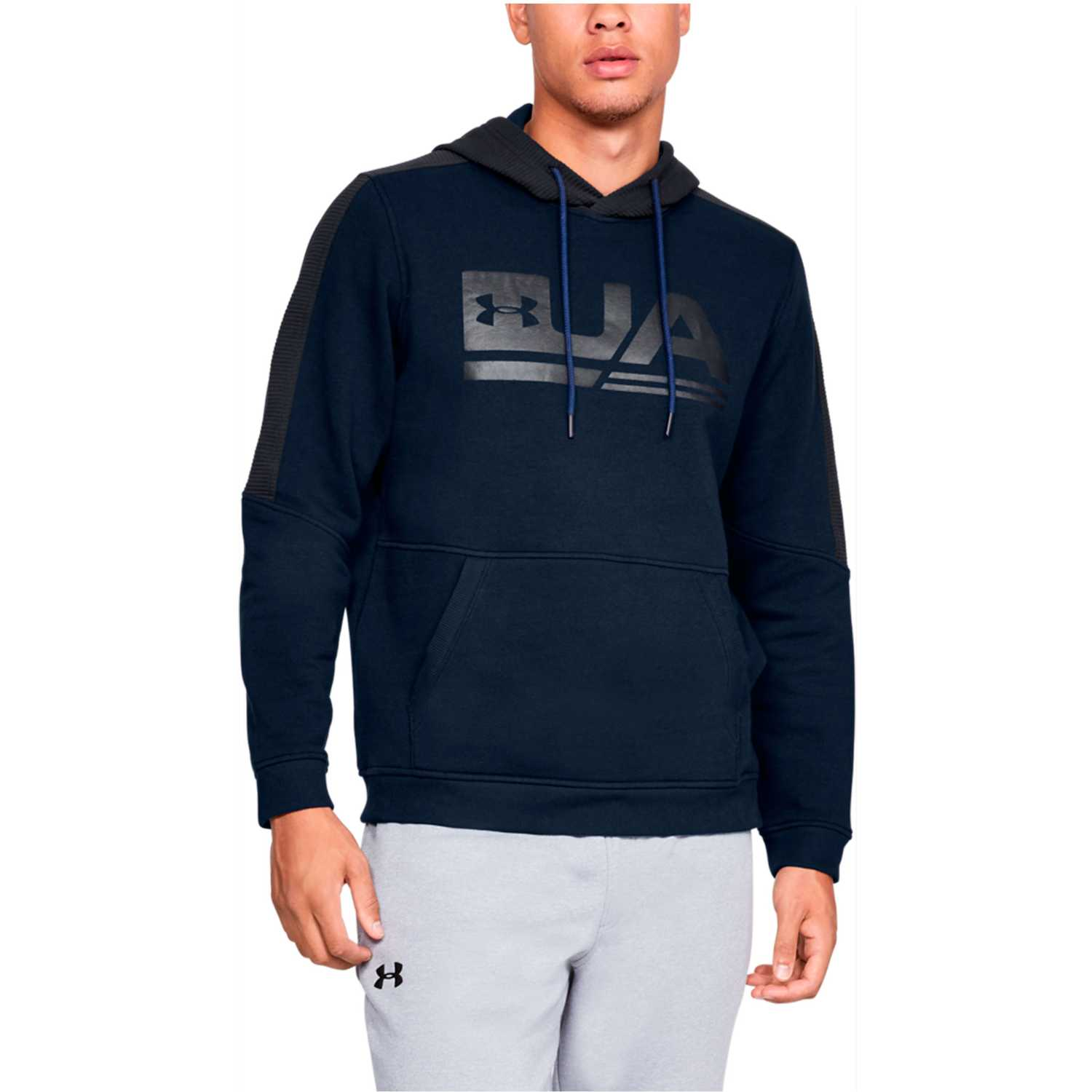 Under Armour microthread fleece graphic-nvy Acero / negro Hoodies Deportivos