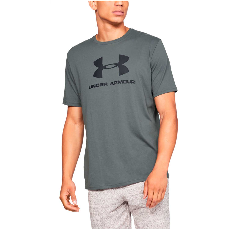 Under Armour sportstyle logo ss Plomo / negro Camisetas y Polos Deportivos