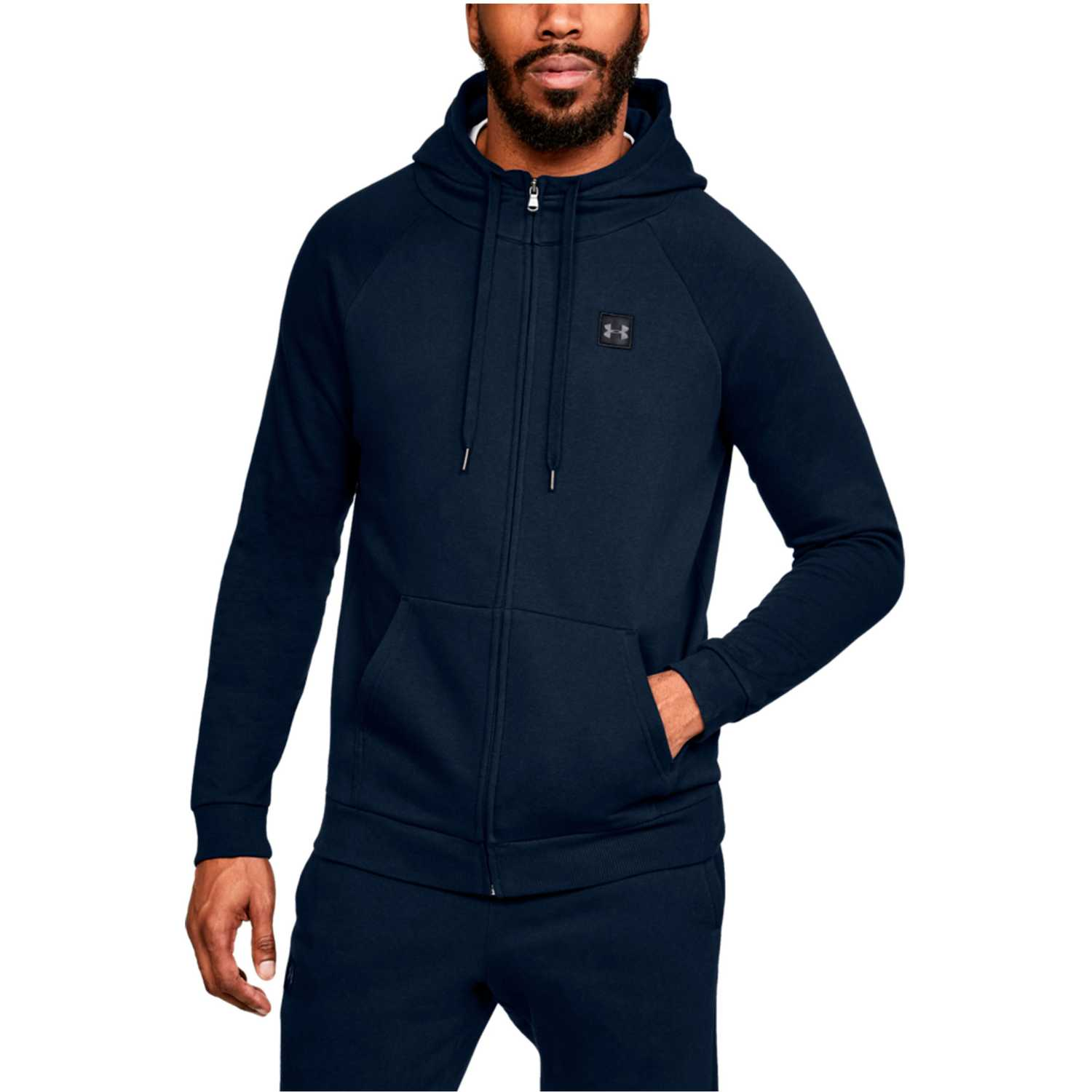 Deportivo de Niña Under Armour Navy rival fleece fz hoodie-nvy
