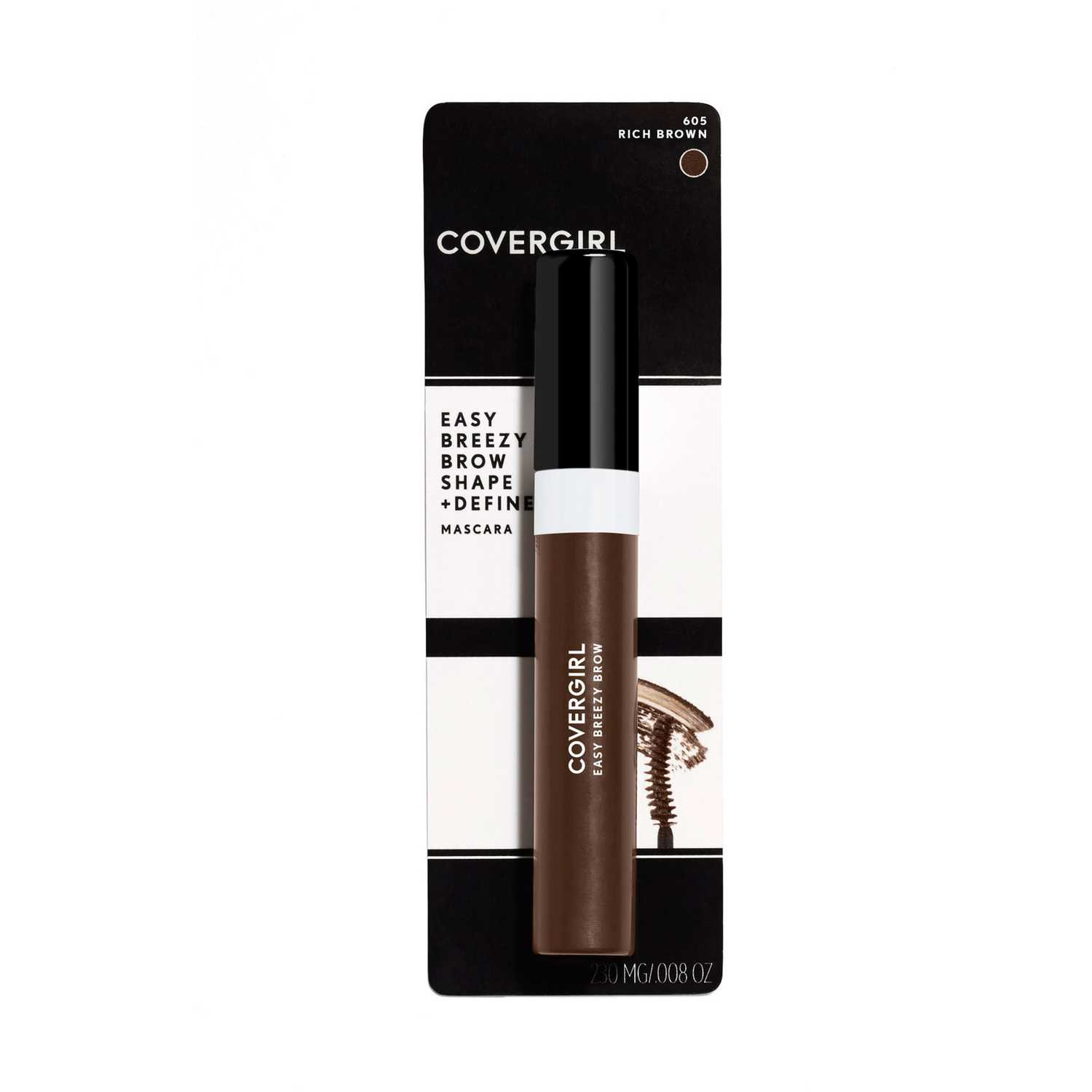Covergirl Brow Shape&Define Brow Mascara Rich Brown Juegos de maquillaje