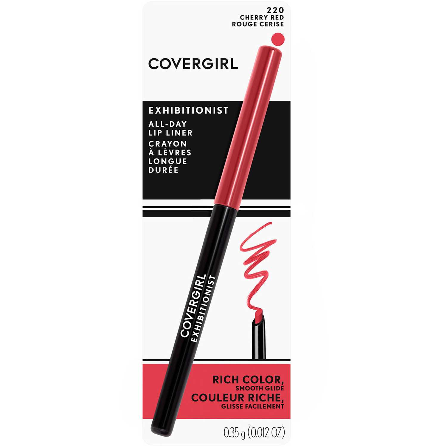 Covergirl delineador de labios exhibitionist Cherry Red Lip Liner