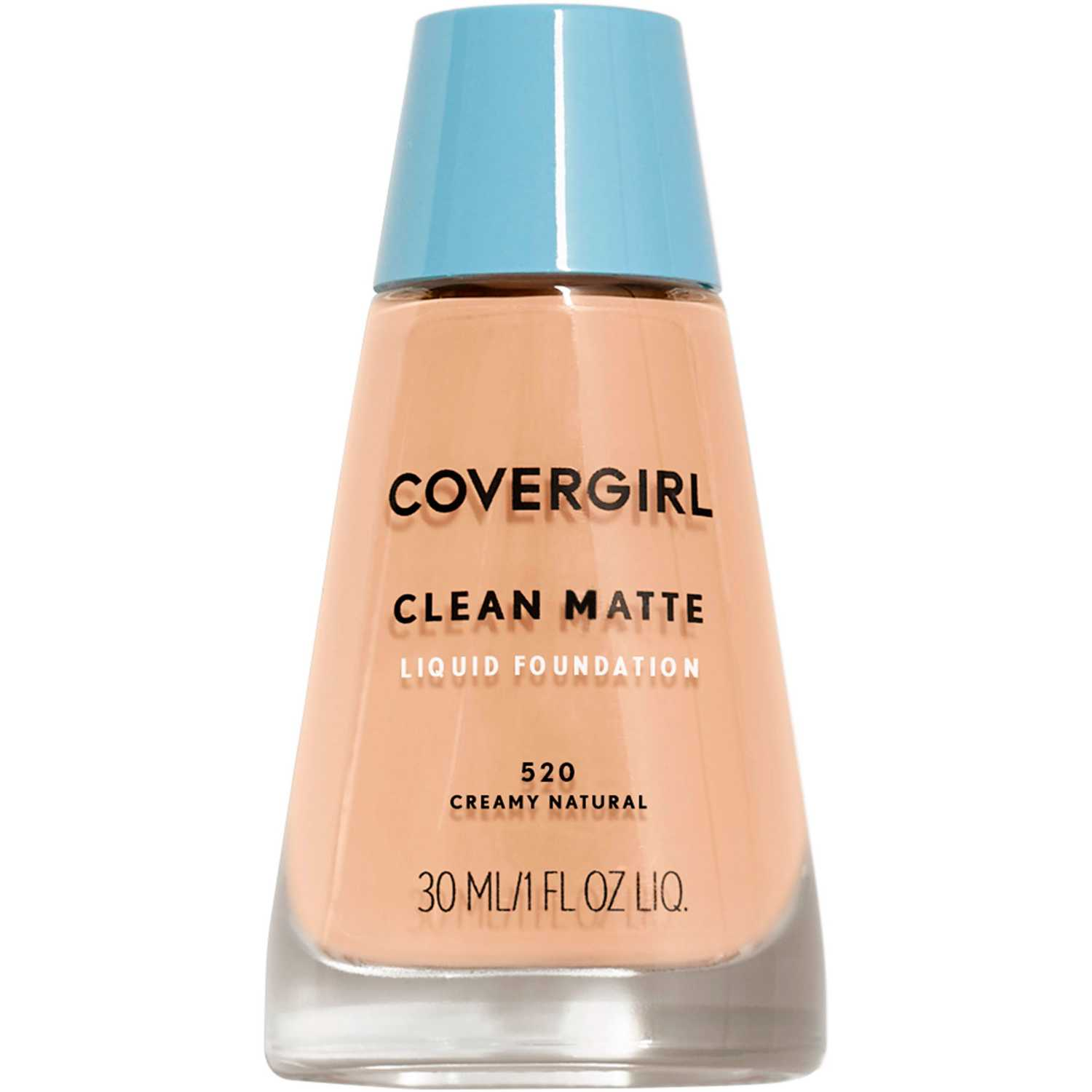 Covergirl Base Clean Matte Liquid Foundation Creamy Natural 520 Bases
