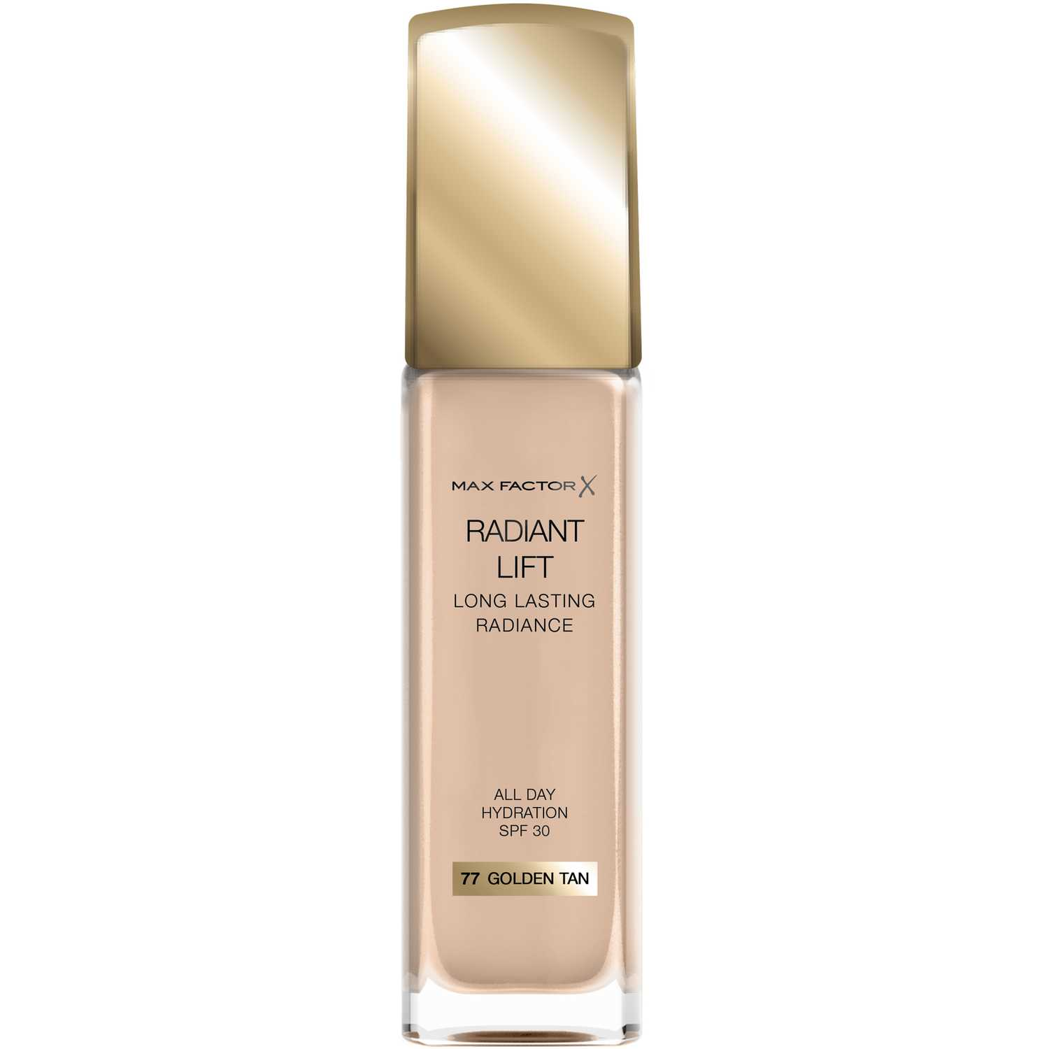 Max Factor base radiant lift long lasting radiance Golden Tan Fundación