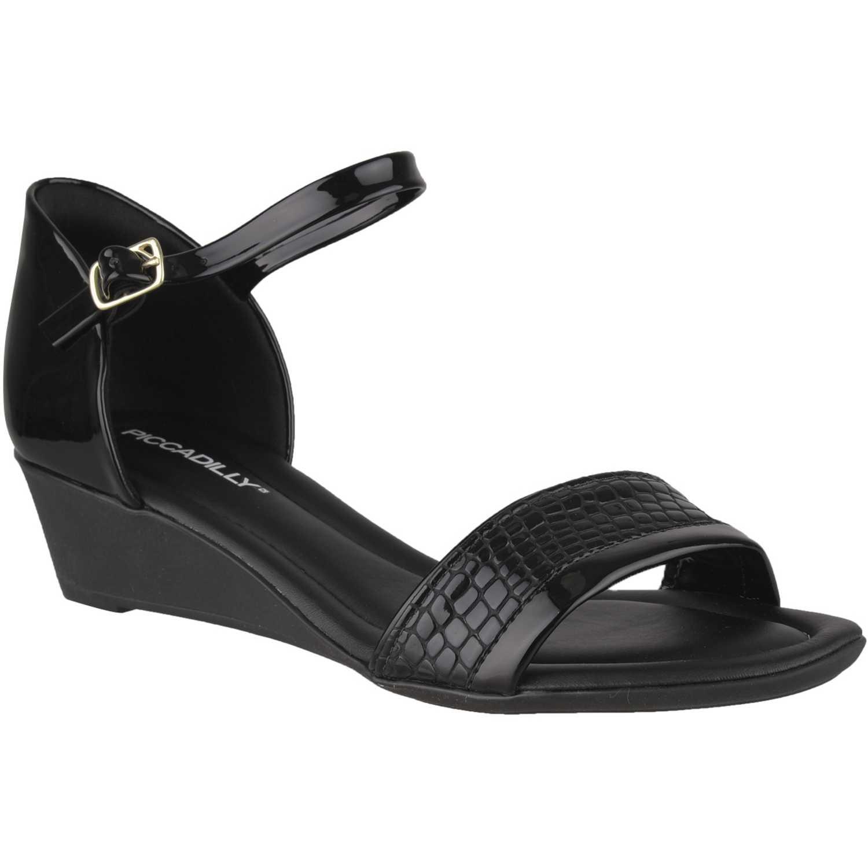 Sandalia Cuña de Mujer Piccadilly Negro sandalia  563009-9-2