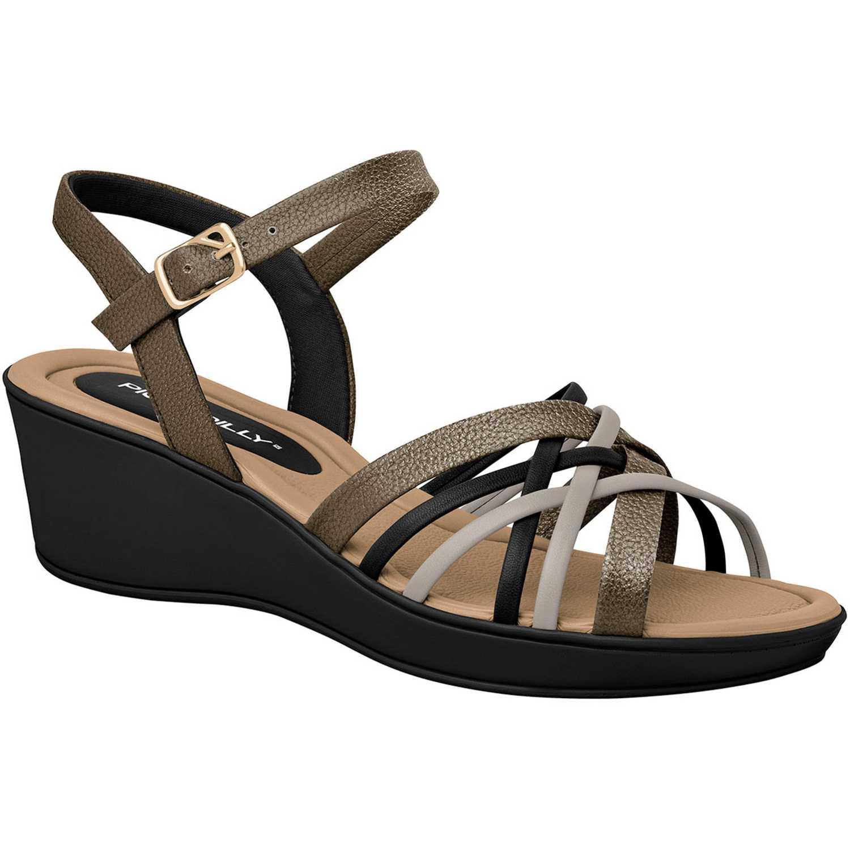 Piccadilly sandalia  540246-27-2 Negro / plomo Plataformas & Cuñas