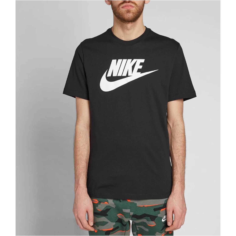 Nike M Nsw Tee Icon Futura Negro Camisetas y polos deportivos