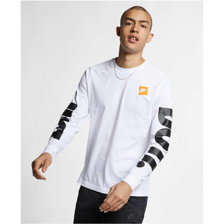 Nike m nsw tee ls hbr 1 Blanco Camisetas y Polos Deportivos
