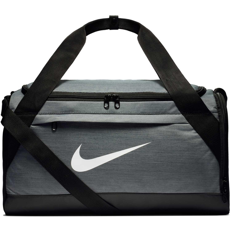 Nike nk brsla s duff - na Plomo / negro Bolsos de gimnasio
