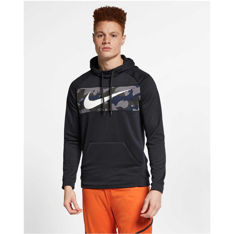Nike m nk dry ls po flc 2l cmo Negro Sweatshirts Deportivos