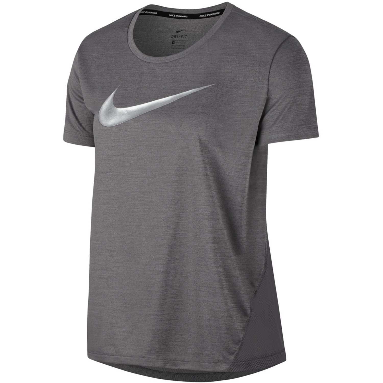Polo de Mujer Nike Plomo w nk miler top ss hbr1