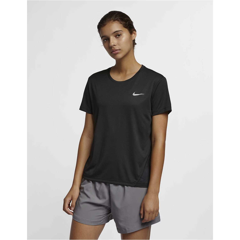 Polo de Mujer Nike Negro w nk miler top ss