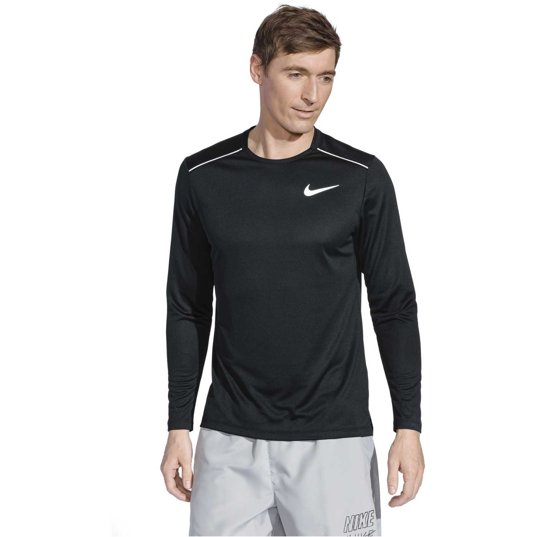 Nike M Nk Dry Miler Top Ls Negro Camisetas y polos deportivos