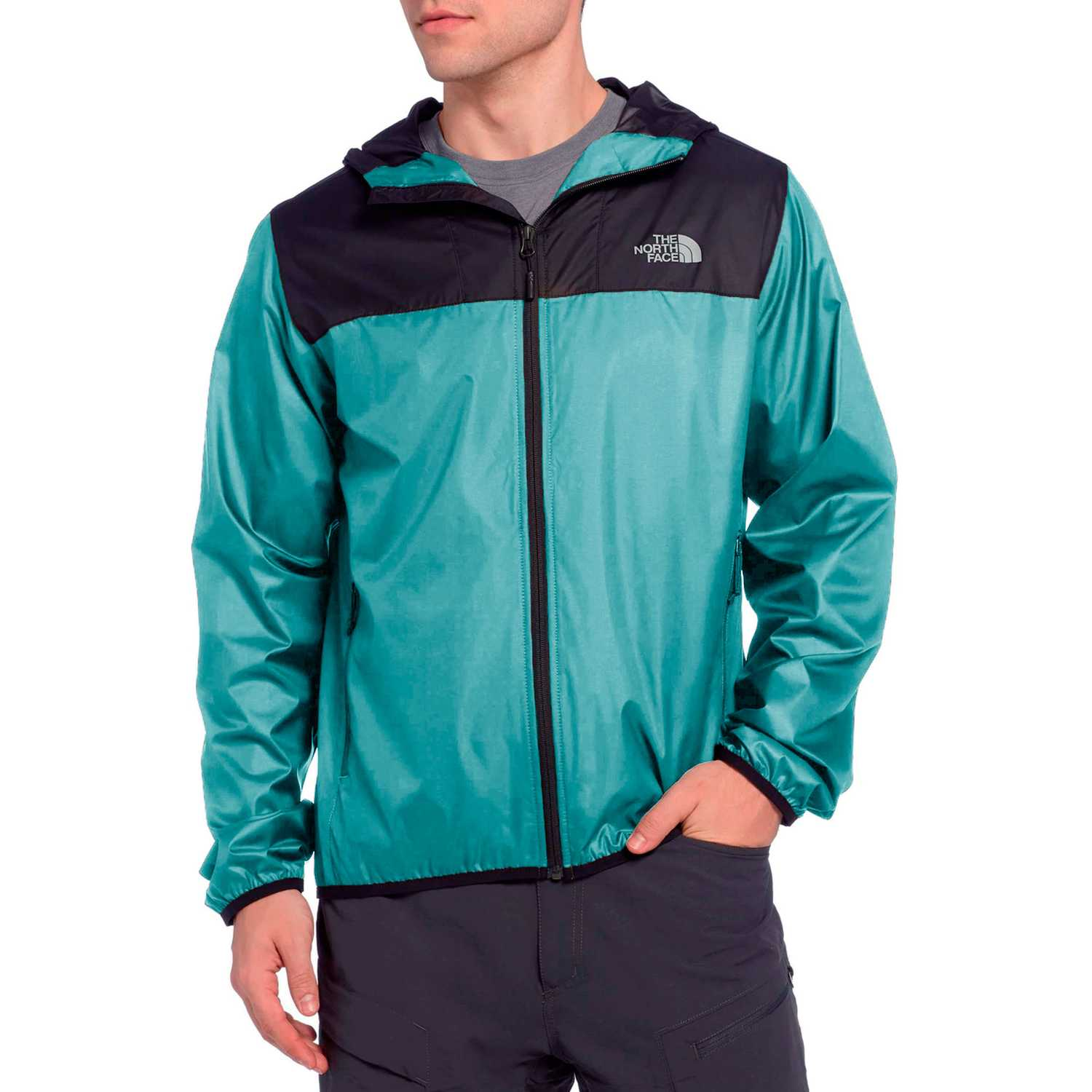 The North Face m cyclone 2.0 hoodie Verde / negro Rompevientos