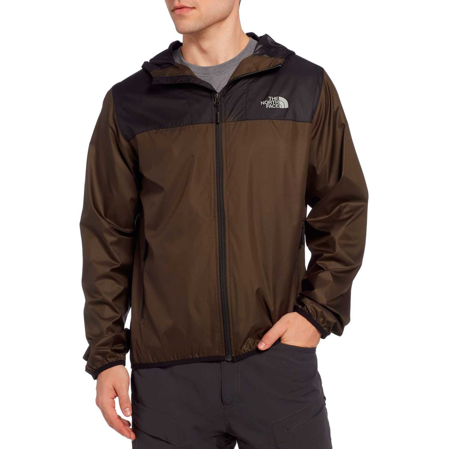 The North Face m cyclone 2.0 hoodie Olivo / negro Rompevientos